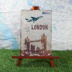 新品【ブリキ看板】London/ロンドン Tower Bridge 葉書