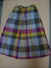 SM2☆BIGチェックロングスカート未使用タグ付き
