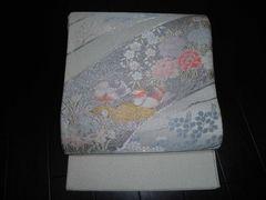 M500 綴れ織・桜と松・オシドリ柄・袋帯