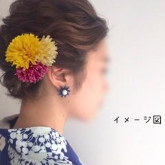 髪飾り ヘアアクセサリー ヘアピン ハンドメイド 夏祭り浴衣にも