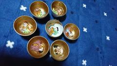 明治期…九谷焼→七福神金粉ぐい飲み→7個窯…印◎2割安