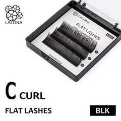 [LALONA]FLAT LASHES セーブル 0.15mm Cカール ( ブラック)