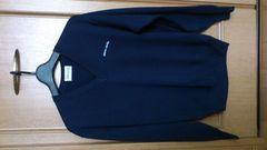 訳あり激安93%オフピエールカルダン、長袖セーター(紺、メンズM)