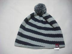 mb830 男 QUIKSILVER クイックシルバー ボンボン付き ニット帽