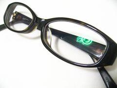 COACHコーチの極上オーバルデザインのセル眼鏡フレーム.現在度入りレンズ.ケース有