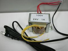 データカウンター用トランス 1A 24V 100Vコード付き