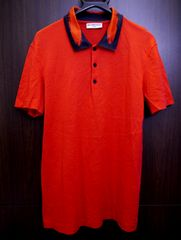 美品◆BALENCIAGA バレンシアガ デザインカラー ポロシャツ 赤