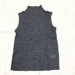 【used】ウール混ハイネックノースリーブニット/L/グレー