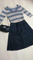ef-de定番ブラックプリーツスカート サイズ7