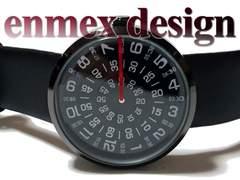 新品 未使用【専用袋付】Enmex お洒落なメンズ腕時計
