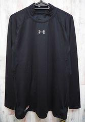 アンダーアーマー 野球 アンダーシャツ 長袖モックシャツ 黒 XL