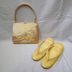 美品・中古◆着物バッグ&草履セット/留袖 パーティー 着付け