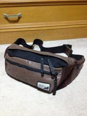 マスターピース レザー ショルダー ウエスト ボディバッグ 革鞄 茶+黒 日本製 ポーター