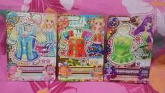 アイカツ☆第5弾☆Rレアトップス3枚セット☆サニーホリデー☆シャンパーニュ☆パールシェル