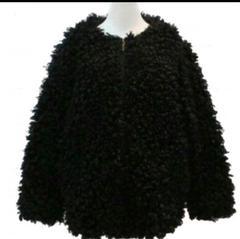 未使用 f.dom プードルコート もこもこコート ブラック