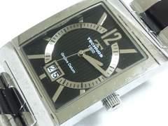 8290/TECHNOSテクノス★定価6万円位スクエア型ケースメンズ腕時計激レア