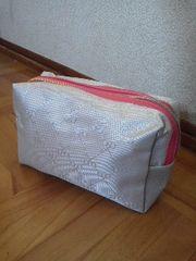SAZABY/サザビー上品ジャガード織りポーチ/送料120円
