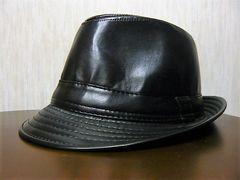 新品 ハット 合皮 帽子 テンガロン ブラック 黒 合革