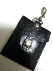 新品◆携帯用灰皿クロコダイル黒