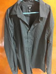 H&M ブラック シャツ 長袖 L