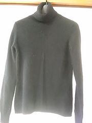 ユニクロ 黒 カシミヤ100%タートルセーター Мサイズ