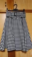 アプワイザーリッシェ☆コルセットベルト付フレアスカート2018SSギンガム