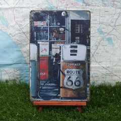 新品【ブリキ看板】ROUTE66/ルート66 Gas station -2-