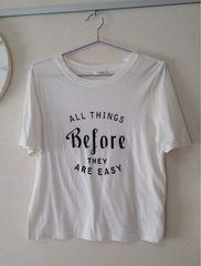 FRAY I.D/ロゴTシャツ/ホワイト/ゆったり/フリー