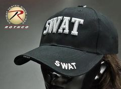 ROTHCO社製「SWAT」ベースボールキャップ・黒/ミリタリー