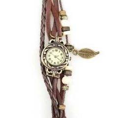 本革ベルト クォーツ腕時計 レザーブレスレットタイプ