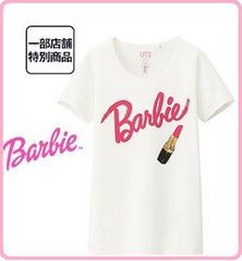 新品可愛いバービーBarbieロゴ入りTシャツMサイズ白色半袖