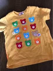 ミキハウス、くまさんいっぱいTシャツ100