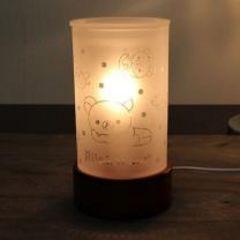 【リラックマ】可愛い癒し♪ガラスアロマライト/インテリアランプドット柄