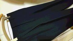 日本製 毛100% スラックス 黒