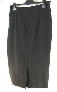 美品フェラガモ ギャザーロング スカート42 ブラック