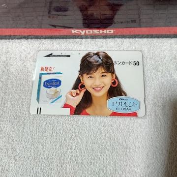 テレカ 50度数 本田美奈子 グリコ エクセレント フリー110#15804 未使用