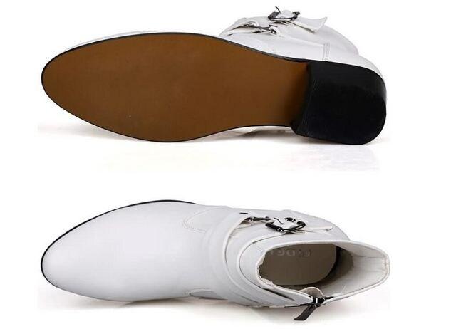 メンズブーツ ショットブーツ レザー 革靴24.5cm~28cm/AK556 < 男性ファッションの