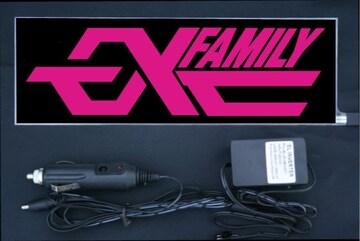光る プレート 『EXFamily』 EL発光ピンク EXILE エグザイル