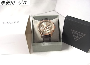 1円~本物確実正規新品同様 ゲス ホライズン メンズクロノ腕時計