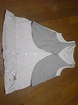Tシャツ/ノースリーブ/灰色/M/まとめ買い歓迎