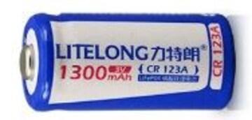 CR123a 16340 1300mAh 3.0V リチウムバッテリー 充電池 1本