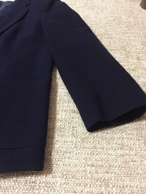 612.ウールジャケット☆ブレザー☆紺/ネイビー☆サイズ15号 < 女性ファッションの