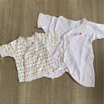 新生児〜女の子ベビ長肌着短肌着セット