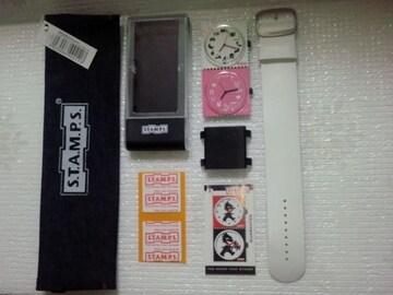 S.T.A.M.P.S. スタンプス 切手の様な時計セット A girl's life ポーチ付