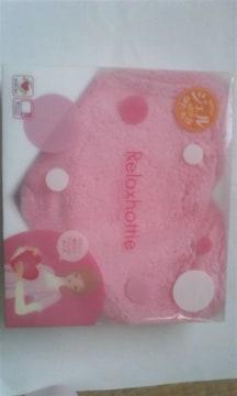 ピンク色 ハート形クッション兼カイロ