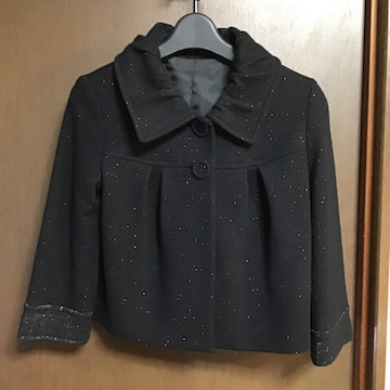 ウール混紡ショート丈ジャケット