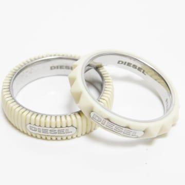 DIESELディーゼル リング 指輪 2本セット 13号 良品 正規品