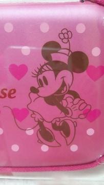 ディズニー ミニーマウス電子手帳ケース未使用未開封ピンクハートドット