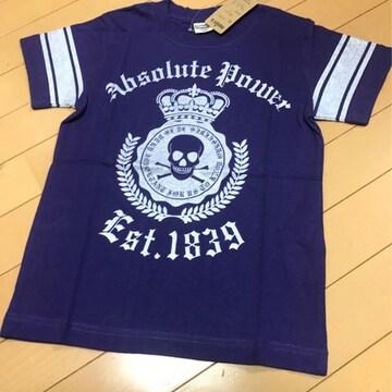新品◆ドクロ&トライバル◆前後かっこいい半袖Tシャツ◆140