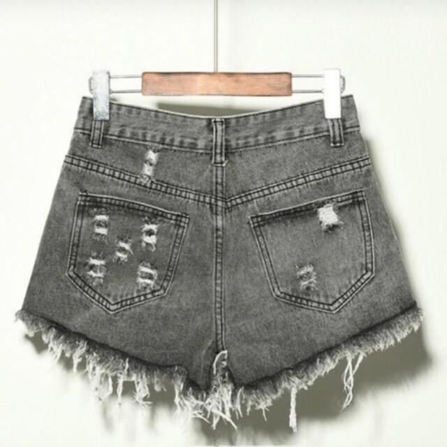LLXL3L/新品☆ダメージデニムショートパンツ < 女性ファッションの